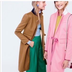 NWT J.crew collection olivia coat ribbon tie